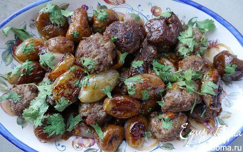Рецепт Тефтельки из ягнятины с инжиром и луком-шалотом