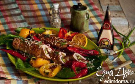 Рецепт Рулет из свинины с сыром и шпинатом