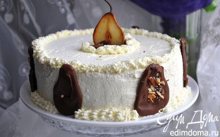 Рецепт Грушевый торт с панна коттой
