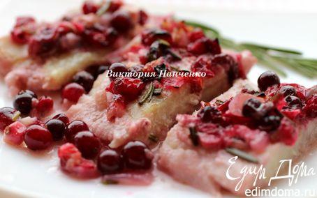 Рецепт Запеченный пангасиус под клюквенным соусом