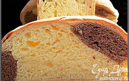 Рецепт Трехцветный хлеб с ароматом какао