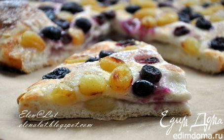 Рецепт Итальянский деревенский пирог с виноградом