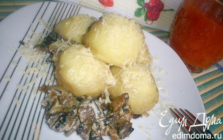 Рецепт Ньокки, тушенные в сливочно-грибном соусе