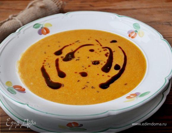 Суп-пюре из запеченной тыквы