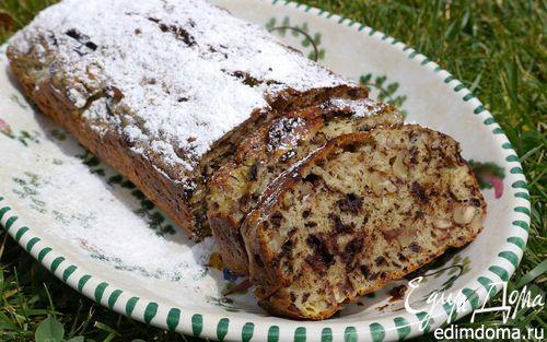 Рецепт Банановый хлеб с шоколадом и орехами
