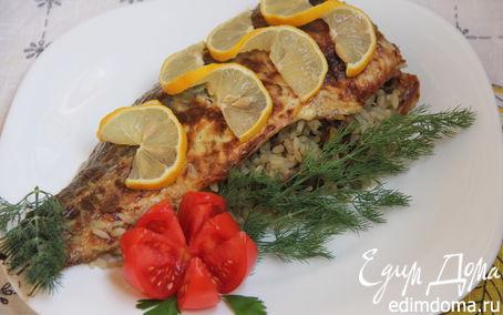Рецепт Карп, фаршированный грибами и рисом