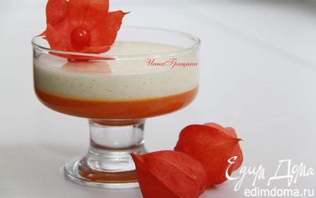 Рецепт Ванильная панна-котта с тыквенно-апельсиновым желе