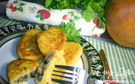 Рецепт Картофельно-тыквенные зразы с очень вкусной начинкой