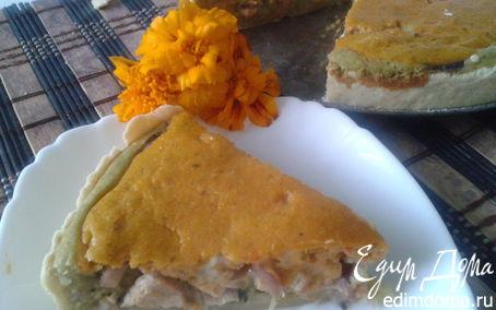 Рецепт Киш из тыквы и брокколи с индейкой
