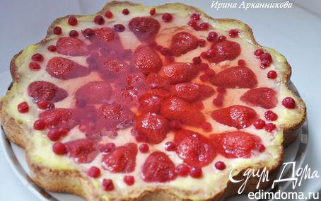Рецепт Тирольский пирог с ягодами и нежным кремом