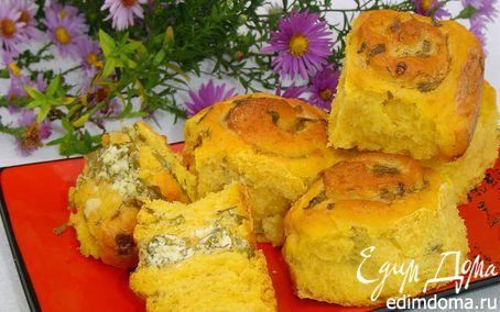 Рецепт Пампушки с тыквой, чесноком и зеленью