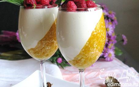 Рецепт Панна котта с тыквенно-злаковым коктейлем