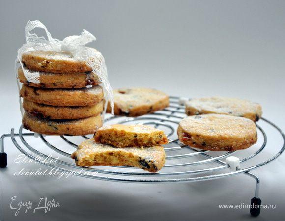 Печенье с шоколадом, ирисками и апельсиновой цедрой (без яиц)