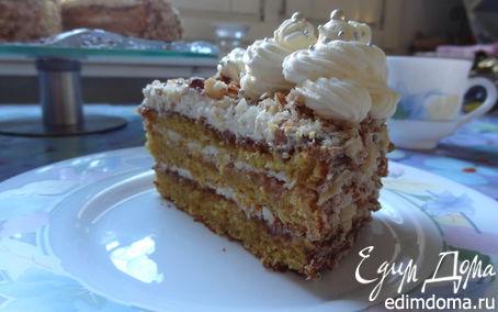 Рецепт Воздушный миндально-тыквенный торт