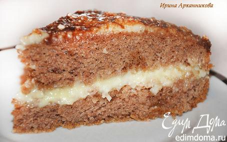 Рецепт Бисквитный торт с заварным кремом