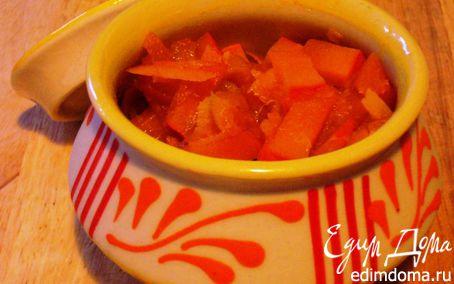 Рецепт Янтарный рестер из тыквы с апельсинами и курагой