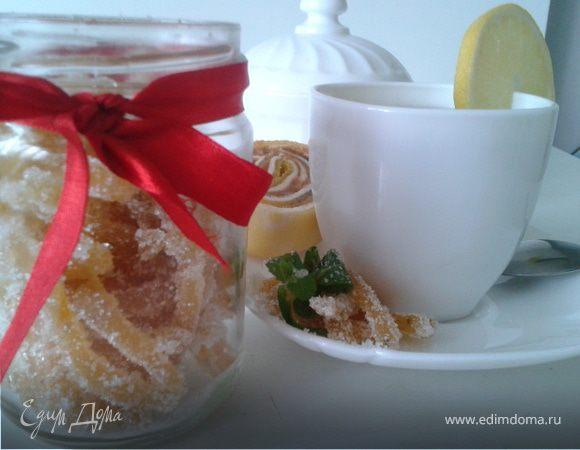 Имбирные цукаты с мятой и лимоном