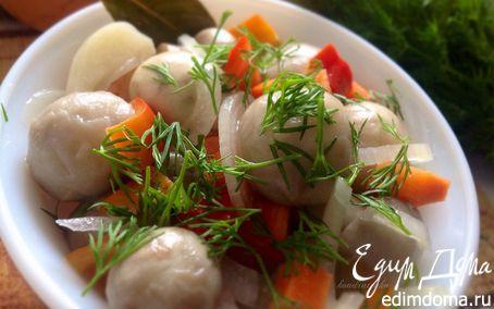 Рецепт Быстрые маринованные шампиньоны с овощами