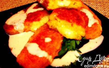 Рецепт Картофельные биточки с начинкой из сыра (полуфабрикат)