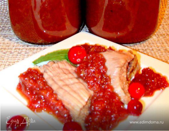 Сливово-яблочный острый соус к мясу