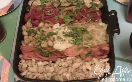 """Рецепт Запеченные куриные грудки с овощами и шампиньонами """"Сделай Сам"""""""