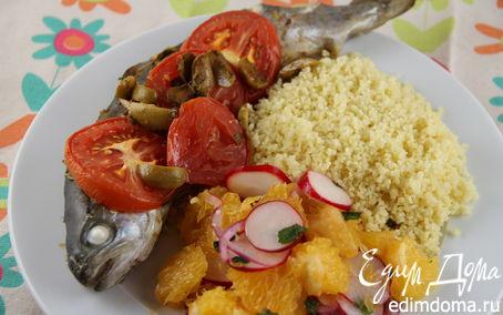 Рецепт Запеченная рыба по-маррокански с соусом с травами