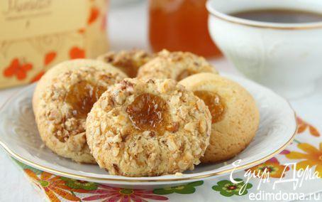 Рецепт Печенье с орехами и джемом