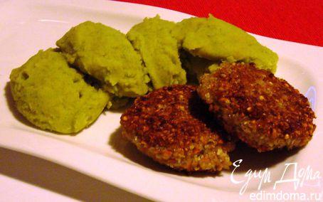 Рецепт Гречневые биточки с горохово-картофельным пюре
