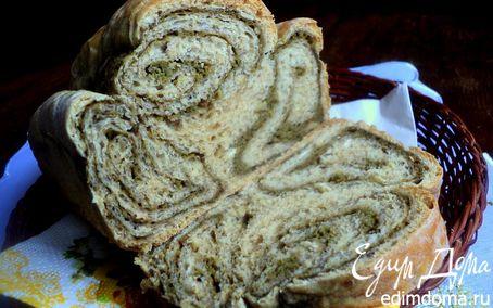 Рецепт Хлеб с цельнозерновой мукой и шпинатом