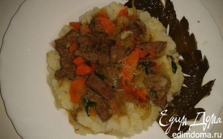 Рецепт картофельное пюре с печенкой
