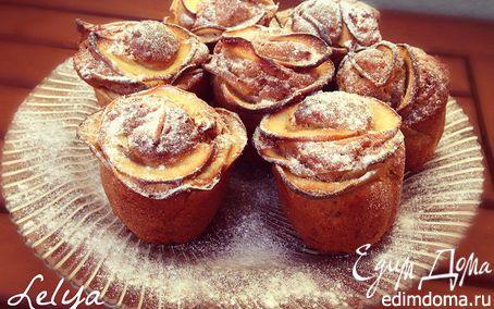 Рецепт Бананово-овсяные кексы с яблочными розами
