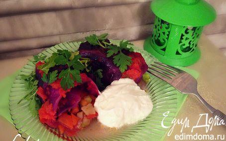 Рецепт Голубцы из краснокочанной капусты с овощной начинкой