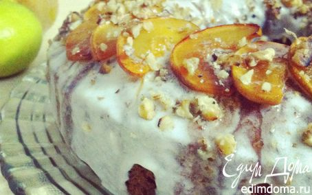Рецепт Осенний кекс с айвой и грецким орехом