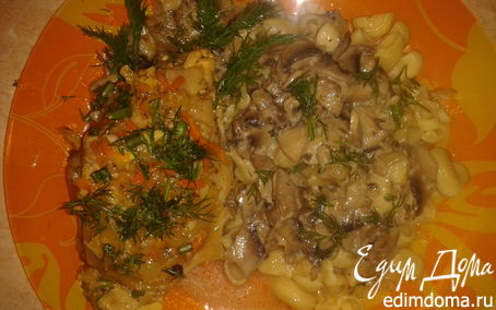 Рецепт курочка с грибами
