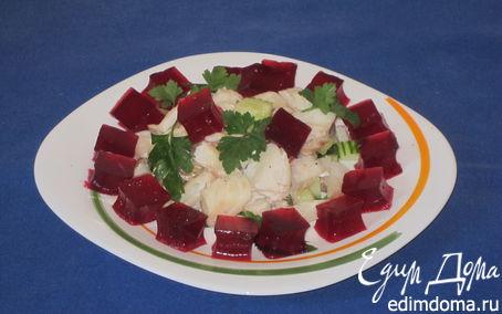 Рецепт Рыбный салат со свекольным желе