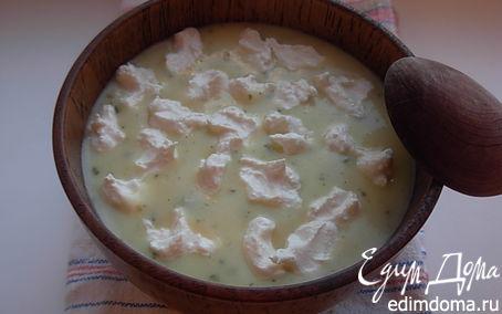 Рецепт Суп-пюре из кабачка с творожным кремом