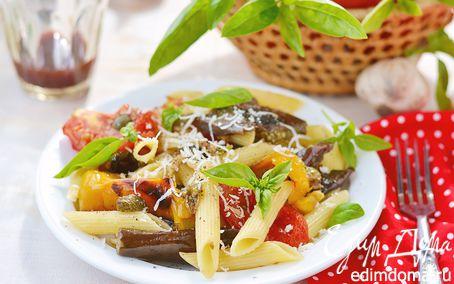 Рецепт Салат из пасты с овощами по-деревенски