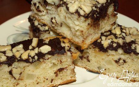 Рецепт Фруктово-йогуртовый пирог с горьким шоколадом и кешью