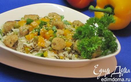Рецепт Рис с рыбными тефтелями