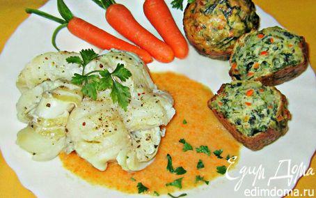 Рецепт Венки из белой рыбы с овощными мини-кексами
