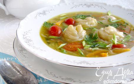 Рецепт Галушки в форме розочки с мясо-овощной подливой