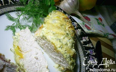 Рецепт Куриные грудки, запеченные под сметанно-чесночным соусом