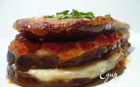 Рецепт Горячая закуска из баклажанов с пармезаном