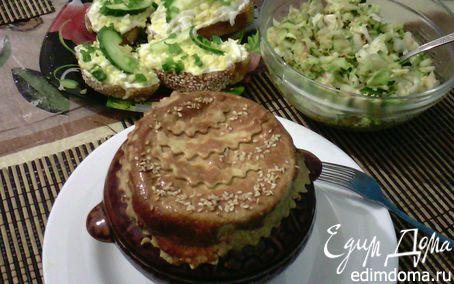 Рецепт Картофель с черносливом и курицей запеченный в горшочках