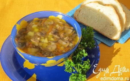 Рецепт Суп грибной с мясным фаршем