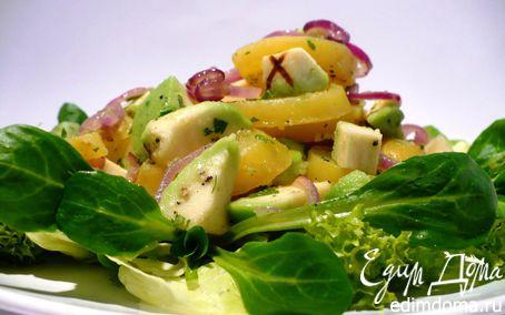 Рецепт Теплый салат из картофеля с авокадо и свежим салатом
