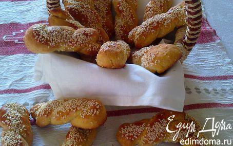 Рецепт Печенье на оливковом масле с кунжутом