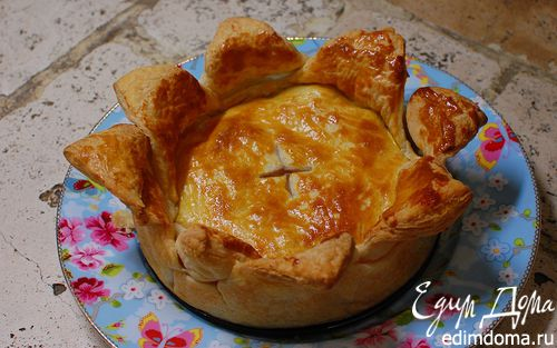 Рецепт Слоеный пирог с мясом и сладким перцем