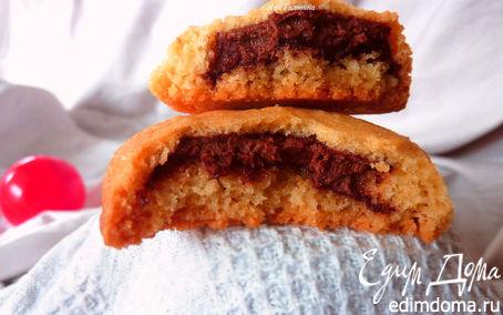 Рецепт Ванильное печенье с шоколадно-ореховой начинкой