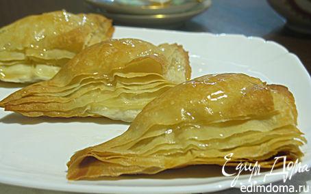 Рецепт Пирожное «Аромат розы» из теста фило с кремом